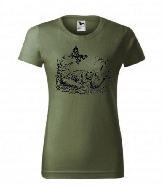 Dámské tričko - Lišče s...