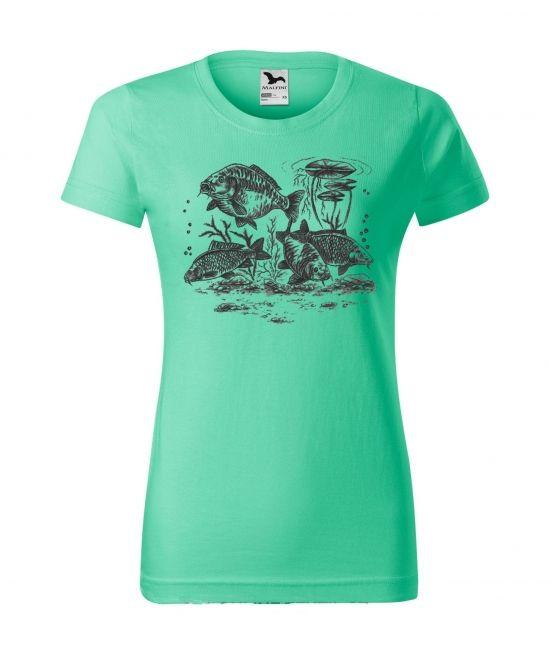 Dámské tričko - čtyři kapři