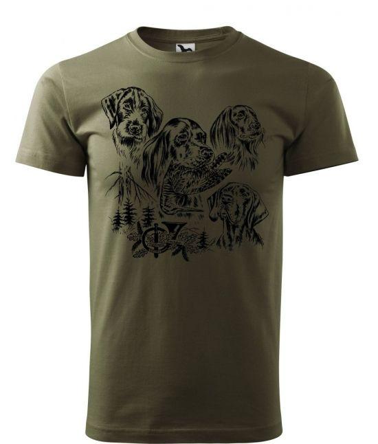 Pánské tričko - Lovečtí psi