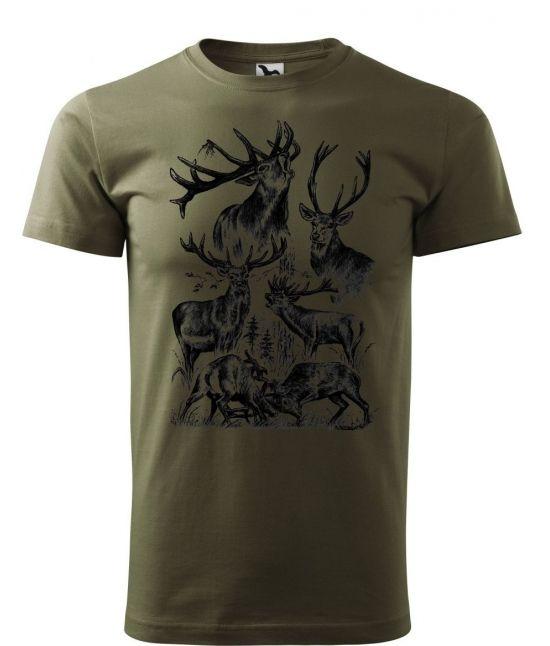 Pánské tričko - V lese to žije