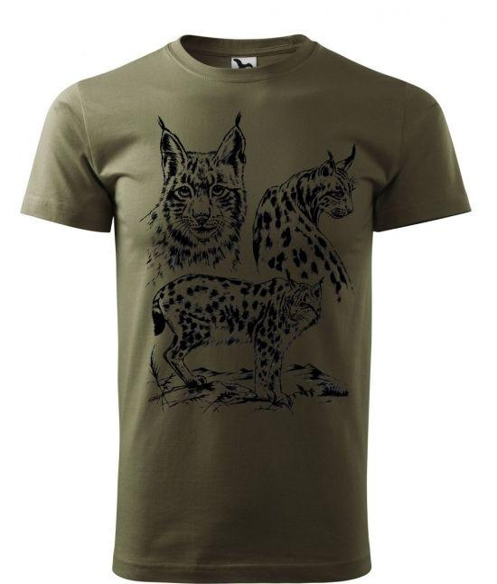 Pánské tričko - Rys ostrovid