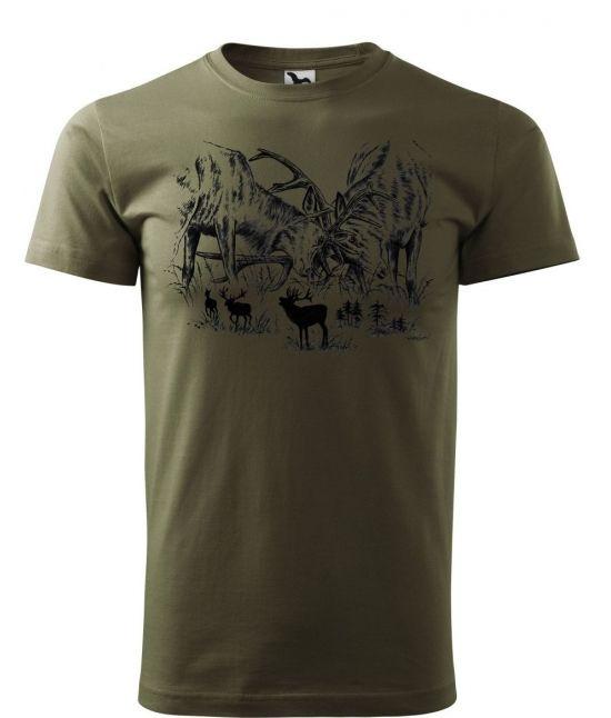 Pánské tričko - Jelení souboj