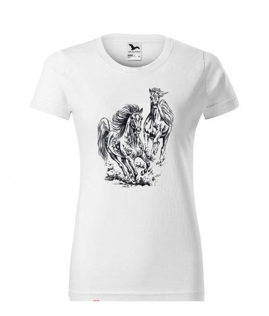 Dámské tričko - Běžící koně