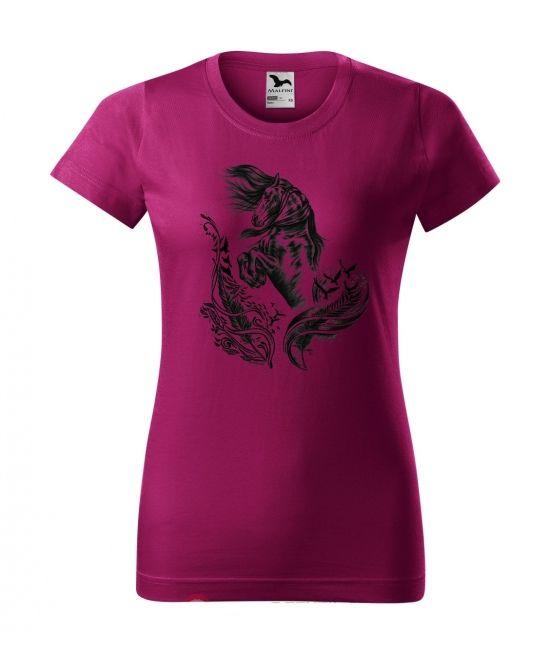 Dámské tričko - Fríský kůň...