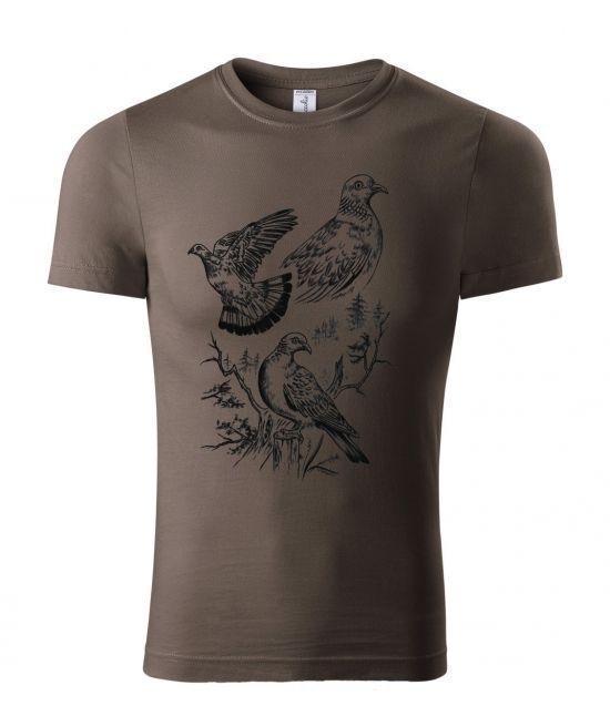 Pánské tričko - holub hřivnáč