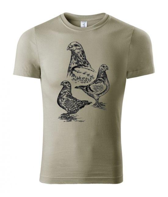 Pánské tričko - holub gigant