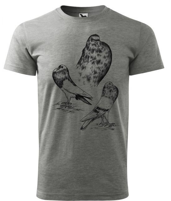 Pánské tričko -holub stavák
