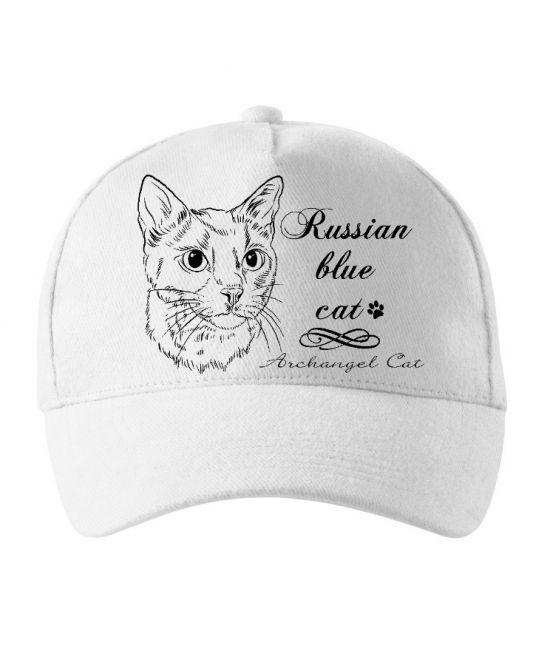 Kšiltovka - Ruská modrá kočka