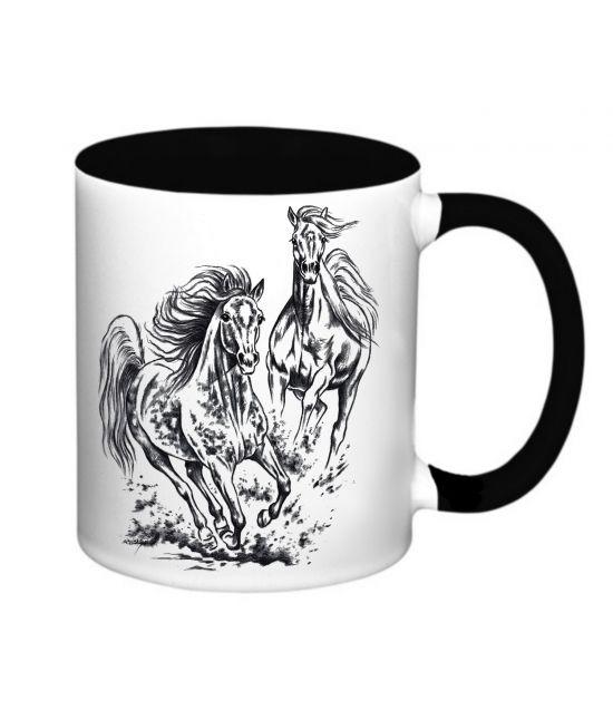Hrneček - Běžící koně