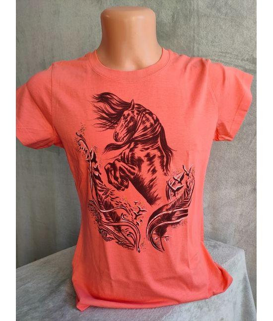 Dámské tričko- Fríský kůň