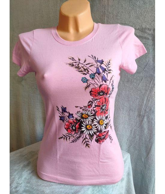 Dámské tričko- Kytice se...