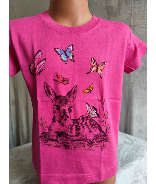 Dětské tričko - Srnče s motýly