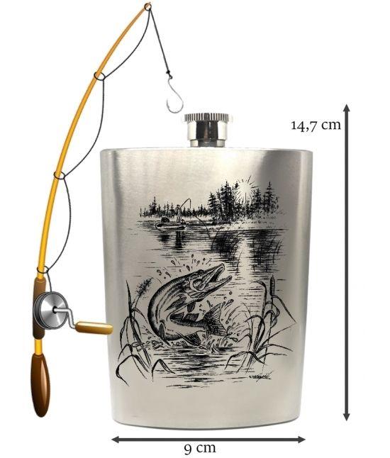 Placatka - Štika s rybářem