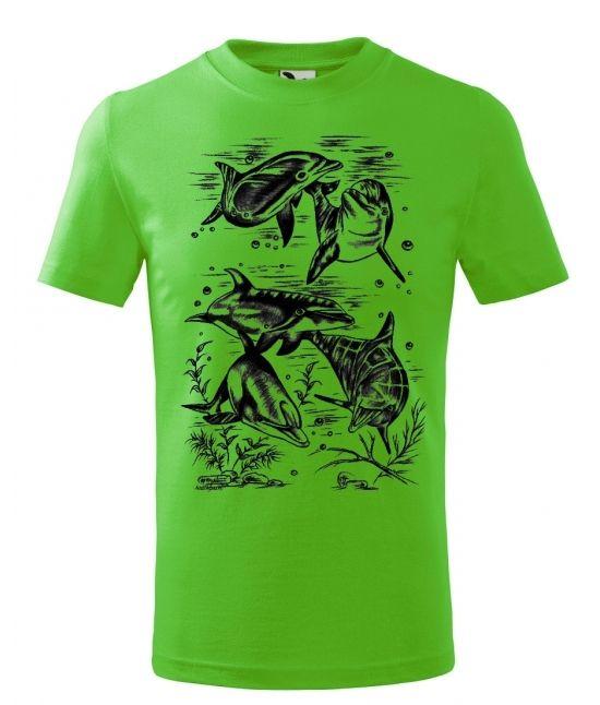 Dětské tričko - Delfín