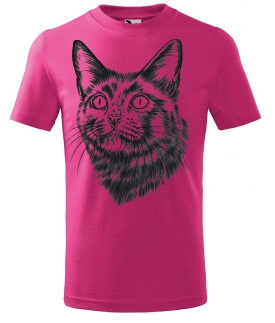 Dětské tričko - Hlava kočky
