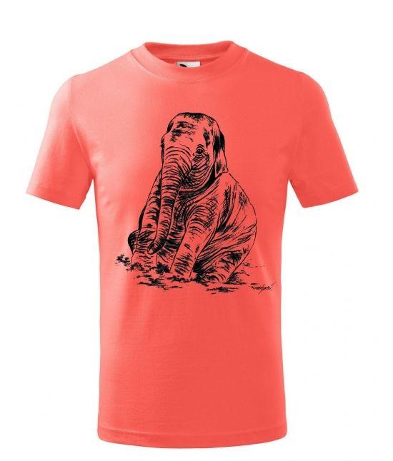 Dětské tričko - Sedící slůně