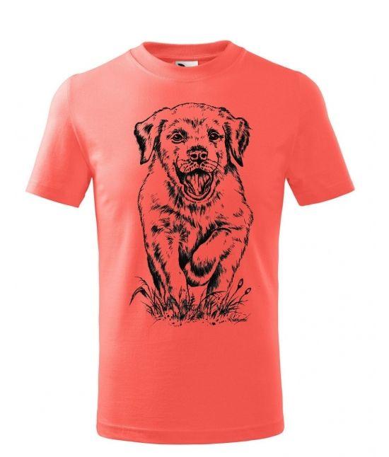 Dětské tričko - Bežící štěně