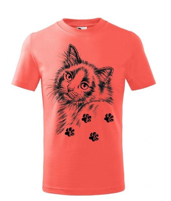 Dětské tričko - Kočka s...