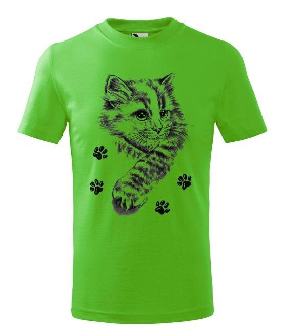 Dětské tričko - Kotě a tlapky