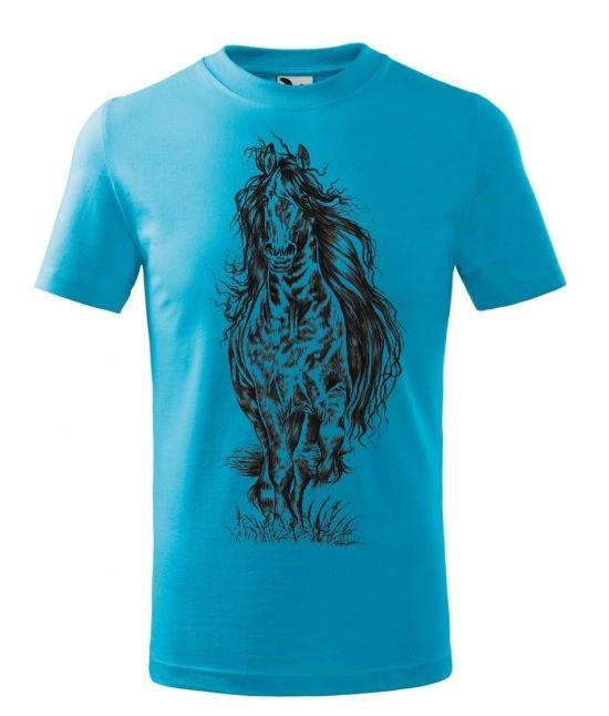 Dětské tričko - Vlající hříva