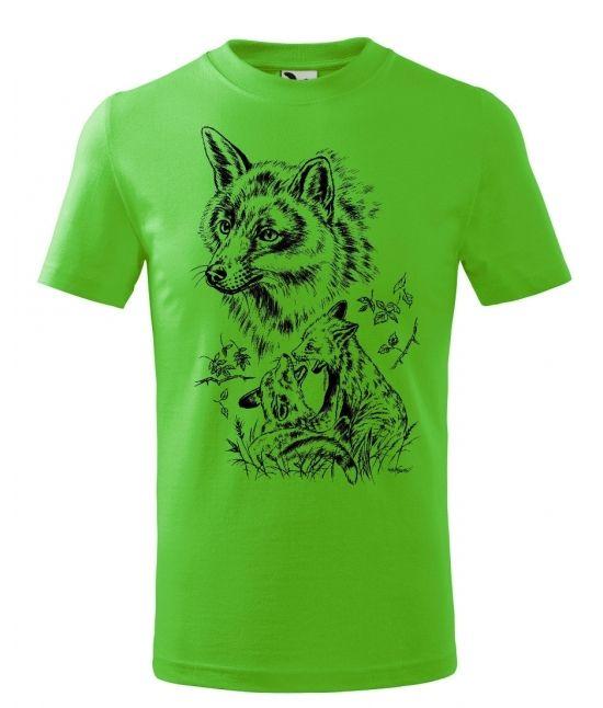 Dětské tričko - Liška s...