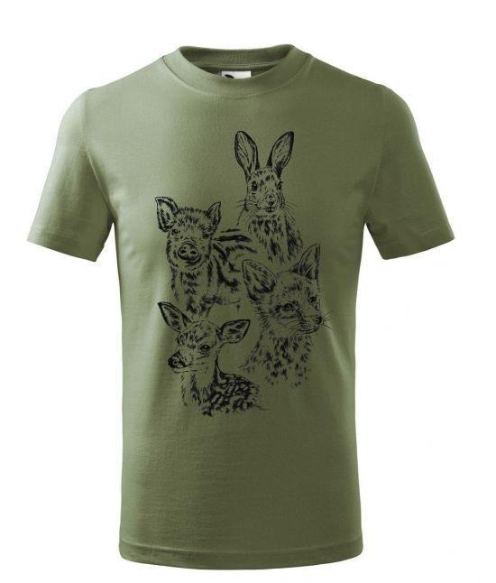 Dětské tričko - Mláďata v lese