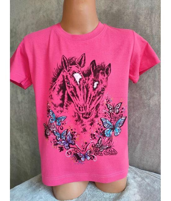 Dětské tričko - Hříbata,motýli
