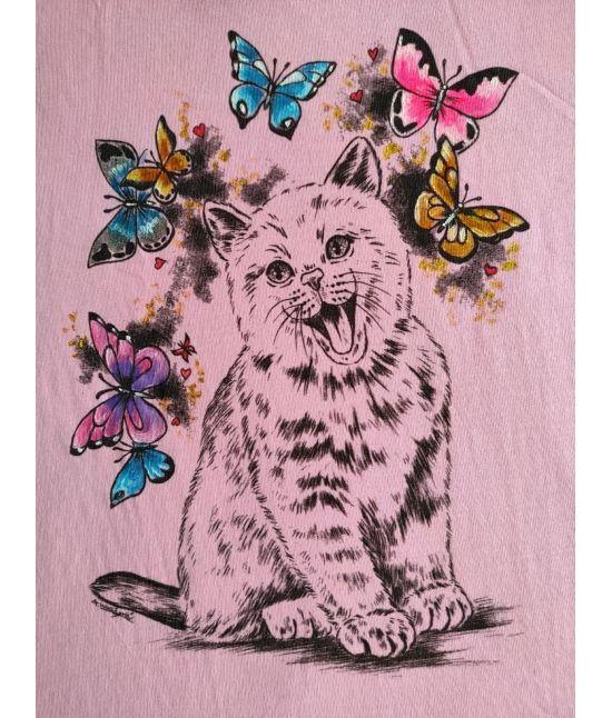 Dětské tričko - Kotě,motýli