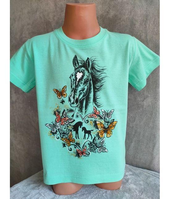 Dětské tričko -¨Hříbě,motýli
