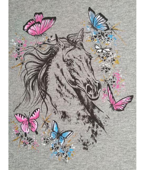 Dětské tričko - Španěl,motýli