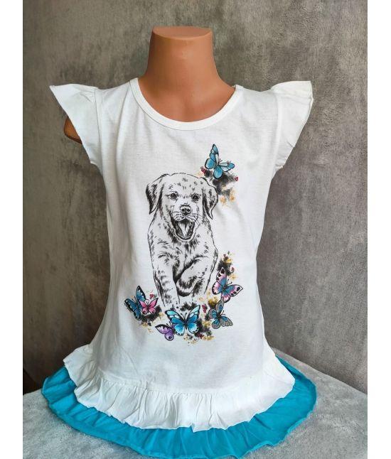 Dětské šaty - Štěně,motýli