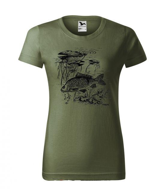 Dámské tričko - Kapr s lekníny