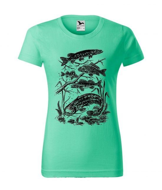 Dámské tričko - Naše ryby