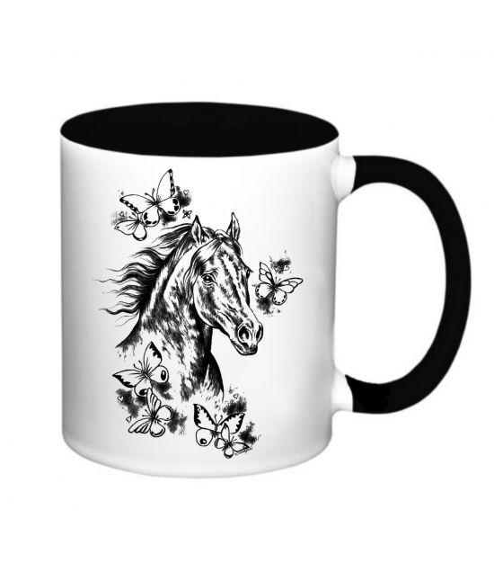 Hrneček - Hlava koně,motýli