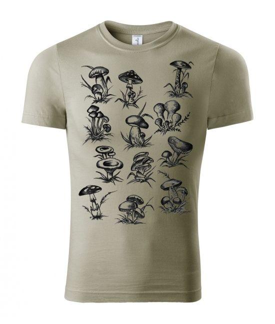 Pánské tričko - Houbičky